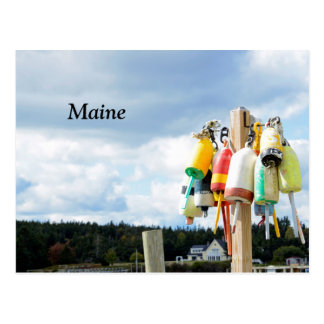 lobster buoys in Maine Postcard