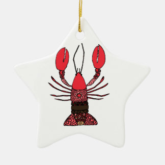 Lobster Ceramic Ornament