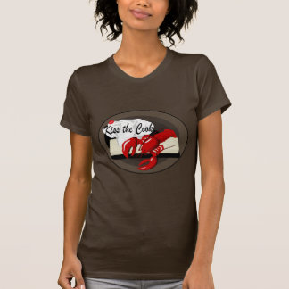 Lobster Chef Kiss the Cook Ladies Brown T-shirt