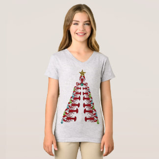 Lobster Christmas tree cute party shirt