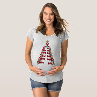 Lobster Christmas tree party ugly shirt maternity
