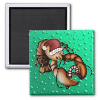 Lobster Claus, magnet Fridge Magnets
