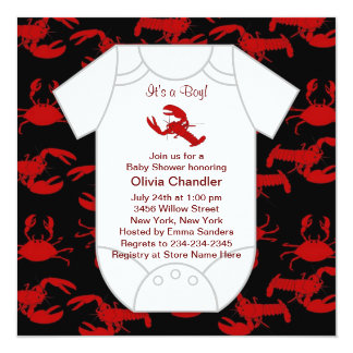 Lobster Crawfish Baby Shower Card