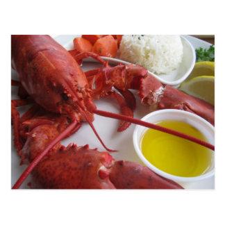 Lobster Dinner Postcard