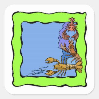 Lobster Frame Square Sticker