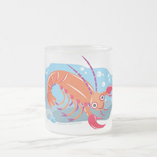 Lobster Frosted Glass Coffee Mug