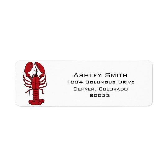 lobster is red return address label