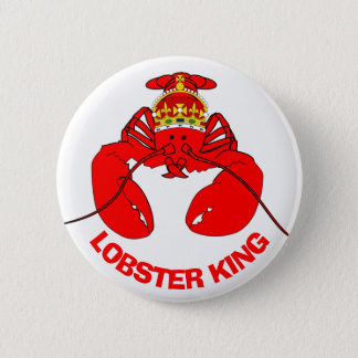 Lobster King 6 Cm Round Badge