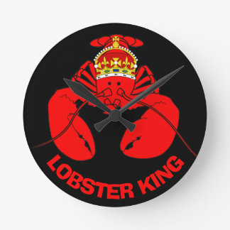 Lobster King Round Clock