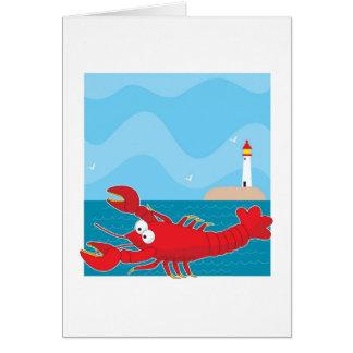 Lobster Light House Card