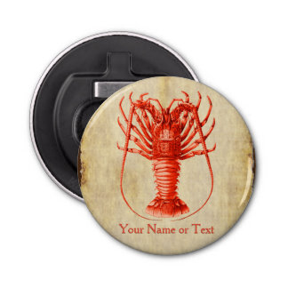 Lobster Lover Vintage Style Magnetic Bottle Opener