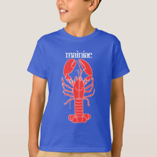 LOBSTER!!! Mainiac kids tee