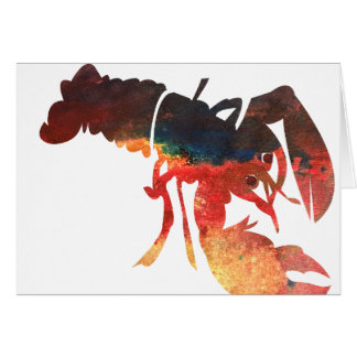 Lobster Mixed Media Collage Card