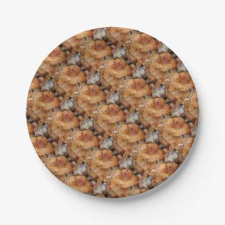 Lobster Mushrooms Paper Plate