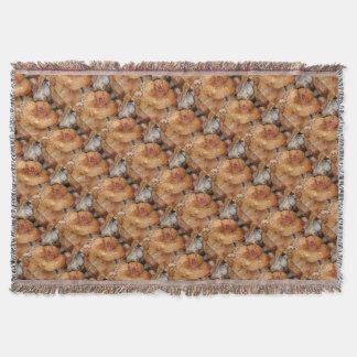 Lobster Mushrooms Throw Blanket