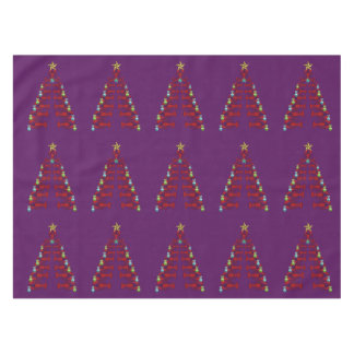 Lobster Nautical  Christmas tablecloth purple