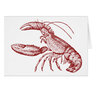 Lobster Notecards Card