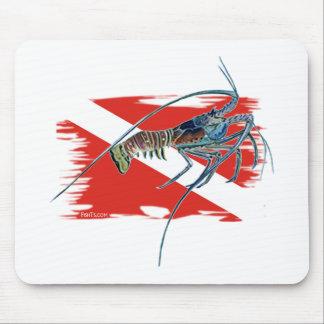 lobster on shredded flag mouse pad