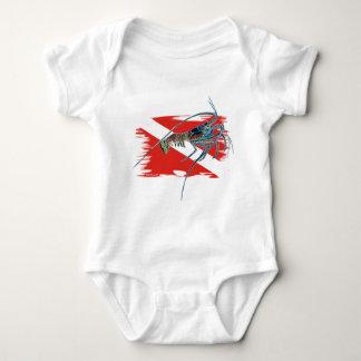 lobster on shredded flag shirt