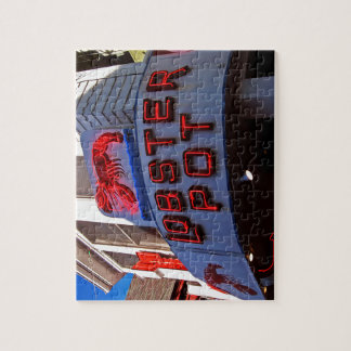 Lobster Pot Neon Sign Jigsaw Puzzle