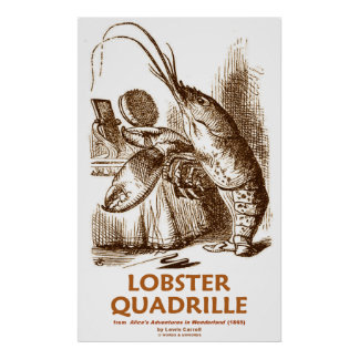 Lobster Quadrille (Lewis Carroll Wonderland) Print