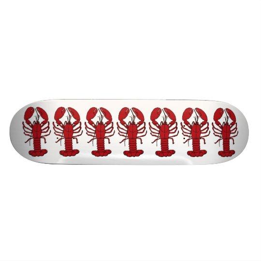 Lobster red white Custom Skate broad 20.6 Cm Skateboard Deck