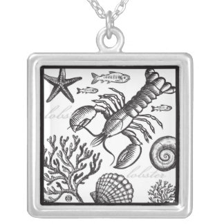 Lobster & Sea Life Black Necklace