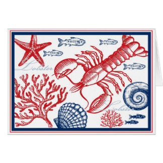Lobster & Sea Life Card