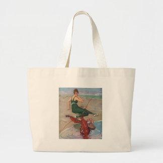 Lobster Serenade Large Tote Bag