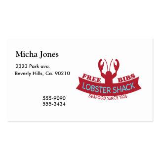 Lobster Shack Fresh Seafood Logo Business Card