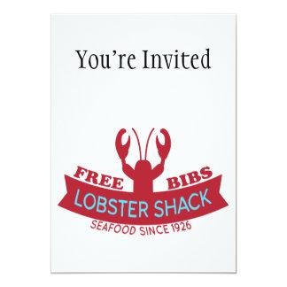 "Lobster Shack Fresh Seafood Logo 5"" X 7"" Invitation Card"