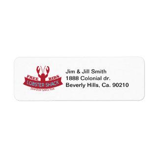 Lobster Shack Fresh Seafood Logo Return Address Label
