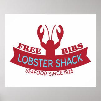 Lobster Shack Fresh Seafood Logo Print