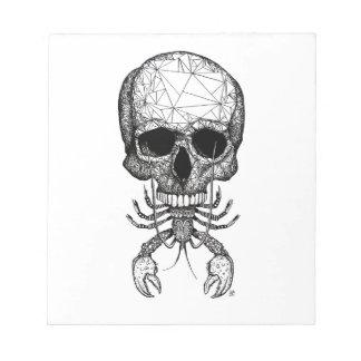Lobster Skull Notepad