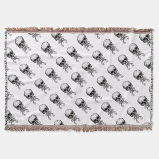 Lobster Skull Throw Blanket