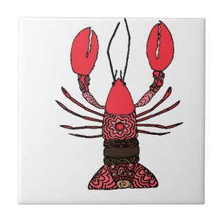 Lobster Small Square Tile