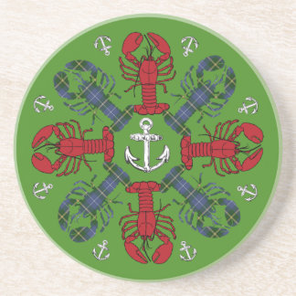 Lobster Snowflake Anchor N.S. Christmas coaster