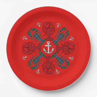 Lobster Snowflake Anchor N.S. Christmas plate