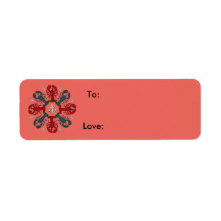 Lobster Snowflake Anchor N.S. Christmas salmon Return Address Label