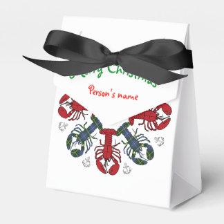 Lobster Snowflake Anchor N.S. Christmas treat bag Favour Box