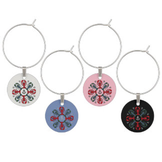 Lobster Snowflake Anchor N.S.Christmas Wine Charms