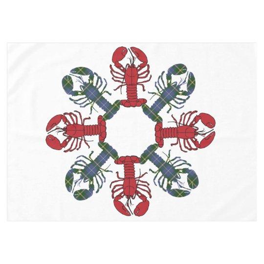 Lobster Snowflake N.S.Tartan Christmas Tablecloth