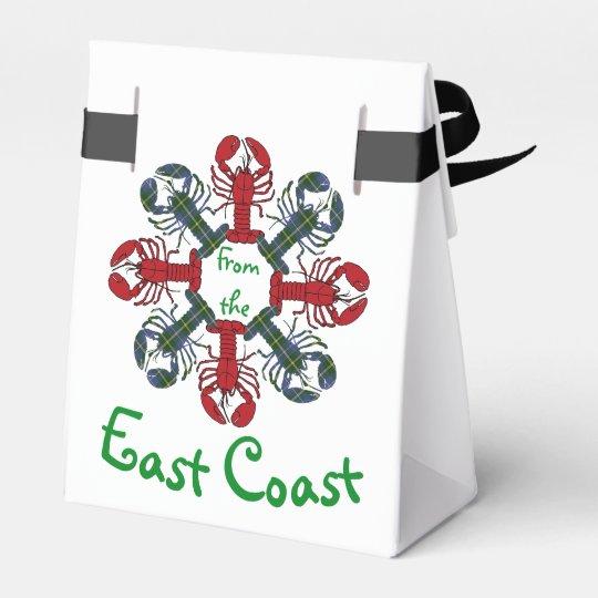 Lobster Snowflake N.S. Tartan Christmas treat bag Party Favour Box