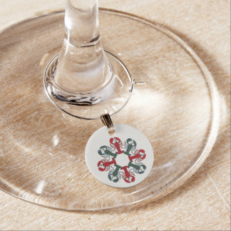 Lobster Snowflake N.S.Tartan Christmas Wine Charms