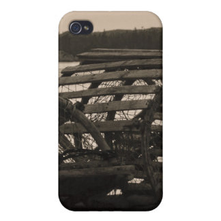 Lobster Traps Sepia Cases For iPhone 4