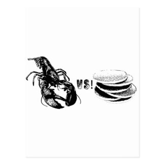 Lobster VS Pancakes Postcard