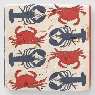 Lobsters and Crabs Stone coaster