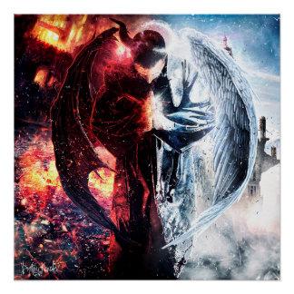 "Loc Saint ""Angelz & Demonz"" 20x20 Gloss Poster"