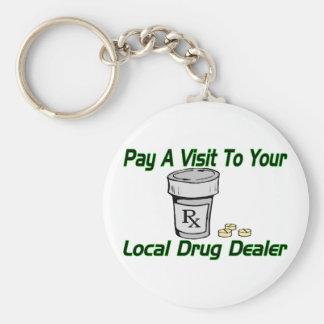 Local Drug Dealer Basic Round Button Key Ring