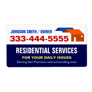Local Emergency Housing and Residential Services Shipping Label
